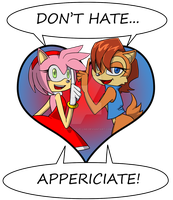 Don't be a hater... by Congo-Love-Line