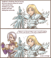 Siegfried's new armor by littleshade