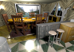 House 4A Dining room:kitchen  by crispexmobile