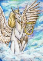 Aceo 031: Heavenly Melody by The-Purring-Teapot