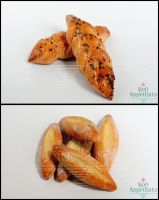1:12 Small Baguettes and Poppy Seed Braided Bread by Bon-AppetEats