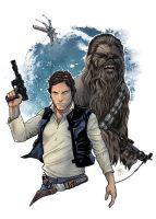 Han Solo and Chewbacca by LudoDRodriguez