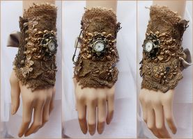 Cute boho watch cuff by Pinkabsinthe