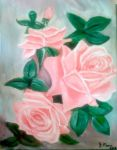 Pink Roses by JessicaAI