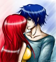Erza and Jellal: So kiss me... by Rinoa-Light-Leonhart