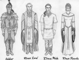 High Elves: Clothing Sketch by Theophilia