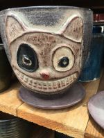 Cheshire Cat Pottery by montey4