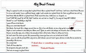 essay on my best friend for class 3 My best friend essay - a friend in need is a friend indeed the world looks dark without a true friend happy are those who have a true friend  my best friend essay for class 8, describe my best friend essay, my best friend essay in english 200 words, best friend essay writing, essay on my best friend for class 10, essay on my best friend.