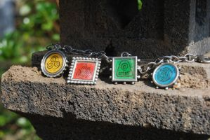 4 Nations Bracelet by zeldalilly