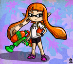Wind Waker Style -- Inkling Girl by Bradshavius