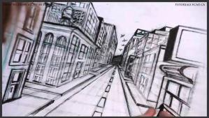 How to draw a city in one point perspective 040 by drawingcourse