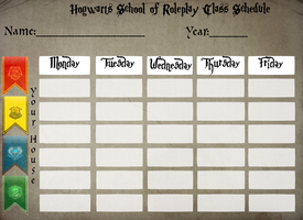 Hogwarts Class Schedule by SteampunkedInkling
