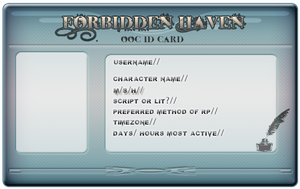 Forbidden Haven OOC ID Card by Accyber