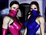 Kitana and Mileena close by andressadreka