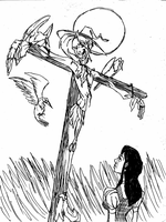Scarecrow in  love  2 by DemonCartoonist