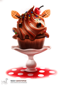 Daily Painting 1682# Choctopus by Cryptid-Creations