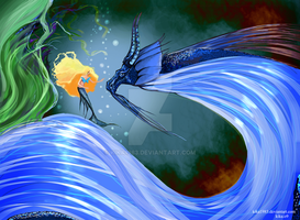dragon and mermaid by kika1983