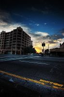Barker St Sunset by leafinsectman