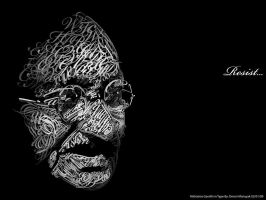Mahatma Gandhi in Type by Dencii