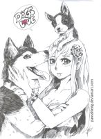 Dogs Love by PawsShiEng