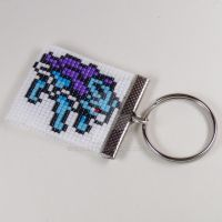 Suicune Beaded Keychain by CarrieBea