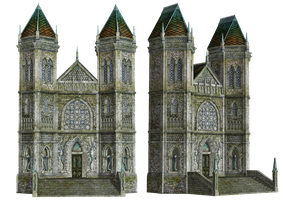 Fantasy Building 02 PNG Stock by Roys-Art