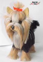 Yorkshire Terrier - Artist Needle Felted Dog by WoolArtToys