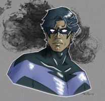 Nightwing doodle by 93Cobra