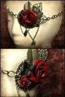 Butterfly Rose Spider Eyepatch by Necrosarium