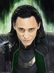 Loki (oil) by Quelchii