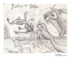 Rat and Cat by CarloValente