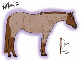 Red Roan Quarter Horse Adoptable for Points by LilWolfStudios