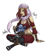 Kat and Rumble: Vday Commissions 1 of 2 by ippylovesyou