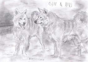 Gin and Riki by Pen-scribble