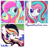 Pegasisters Live: Rainbow Power! by bravelyart