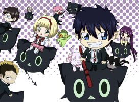 Ao No Exorcist- Chibi by DaniielaHaruno