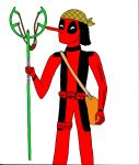 Usopp as Deadpool by SmokeyandtheBandit