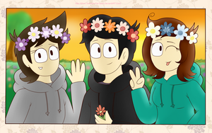 Gays With FlowerCrowns ~ B-Day Gift uvu by Jean-Kirschstein