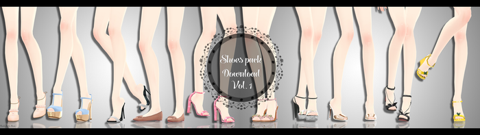 |MMD|Shoes pack 1-10 DL .:500 Watchers Gif:. by Dastezi