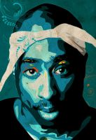 2 Pac Vector by Monzer