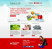 York CPR Training n First-Aid Web Design by dRoop