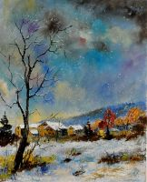 winter scene by pledent