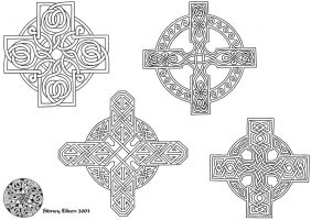 Flash - Celtic Crosses 1 Line by sidneyeileen