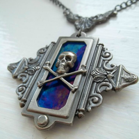 Gunmetal Pirate Amulet by HoneyCatJewelry