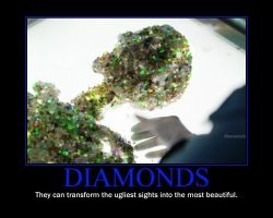 Diamonds Motivational Poster by QuantumInnovator