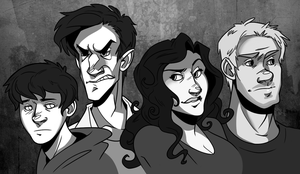 Indemnis cast in black and white by pai-draws