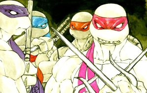 The Four Turtles by BiggCaZ