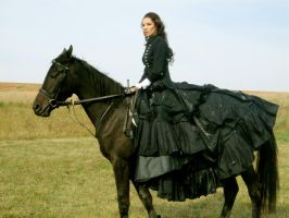 lady and horse by AngieStock