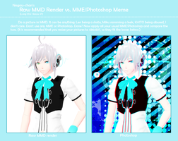 Raw MMD render vs Edited by Kanahiko-chan