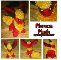 Flareon plush by teenagerobotfan777